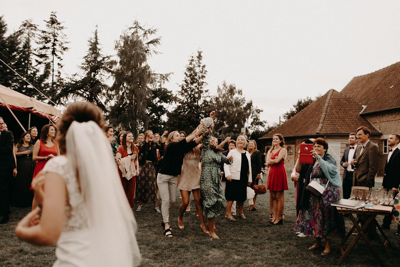 Mariage bohème Picardie cirque
